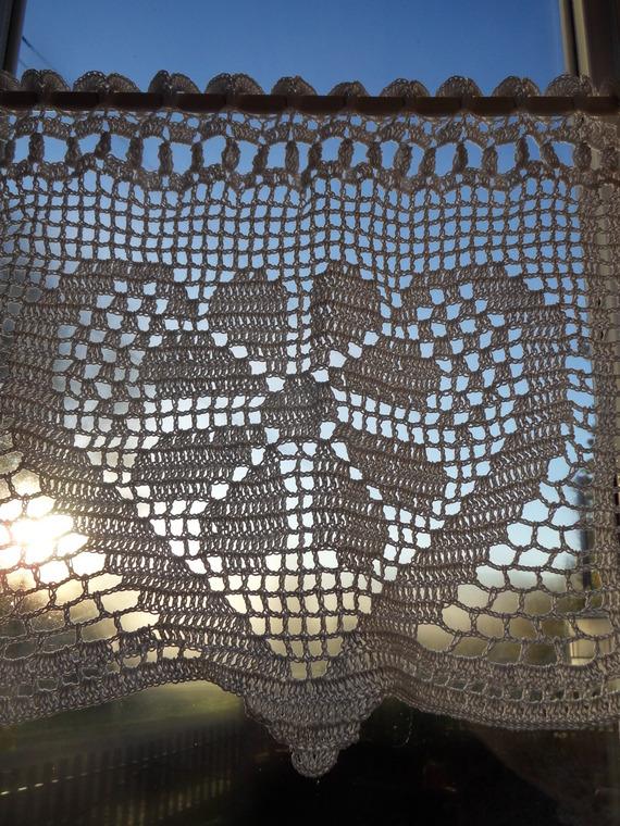 rideau crochet fouxelle fait main bricolage recyclage nathalie mégias